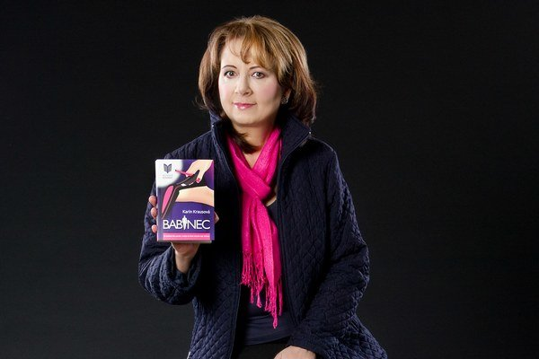 Karin Krausová. Svoju šiestu knihu vydala už vo vlastnom vydavateľstve.