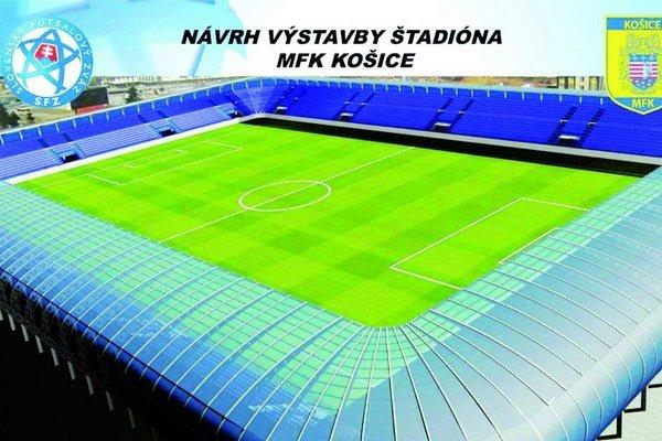 Štadión má mať 9-tisíc miest. Priemerná návšteva v slovenskej lige je 2 200.