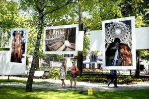 Umenie uprostred zelene. Snímky zútulňujú okolie spievajúcej fontány.