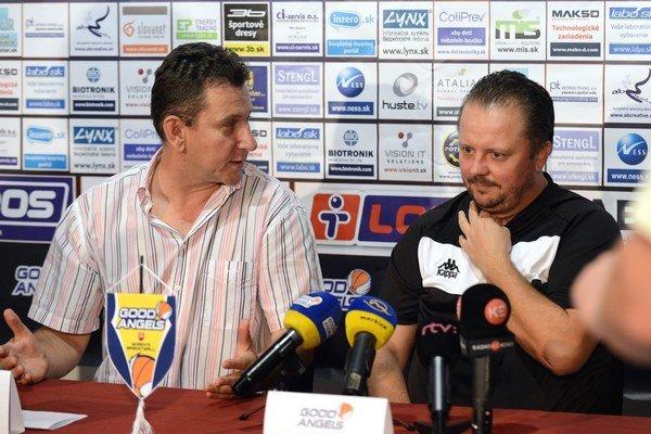 Zľava prezident klubu Róbert Jano a generálny manažér klubu Daniel Jendrichovský.