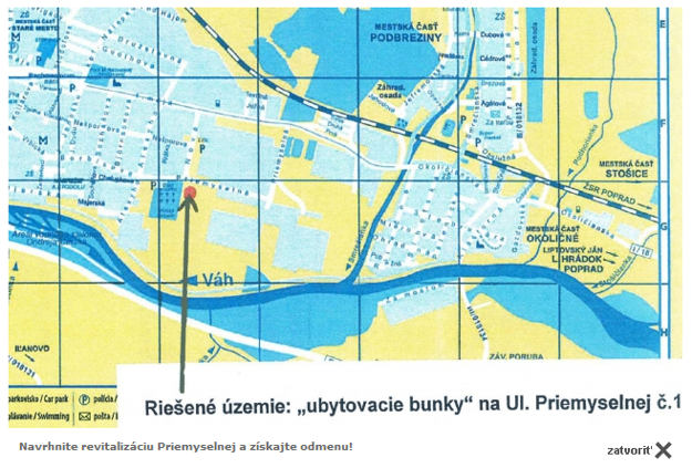 K oznamu radní priložili mapku s vyznačením lokality.