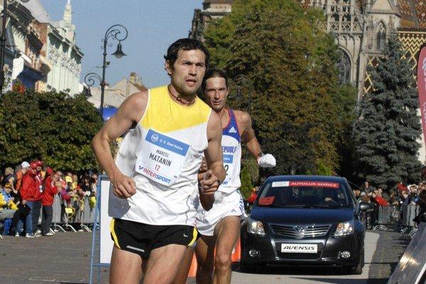 Marcel Matanin. Na trati košického maratónu v roku 2010.