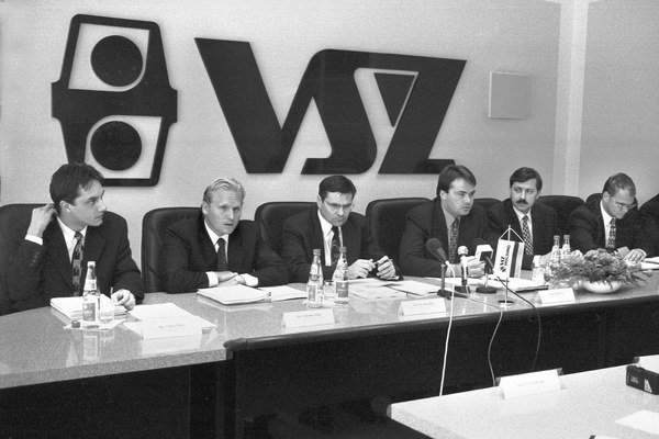 Predstavenstvo VSŽ, v ňom aj Ľ. Solár a J. Bilík.