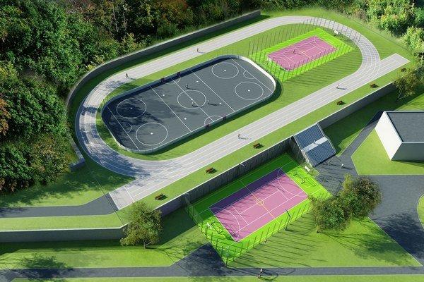 Starý školský areál prerobia. Takýto moderný športový komplex v Košiciach ešte nie je.
