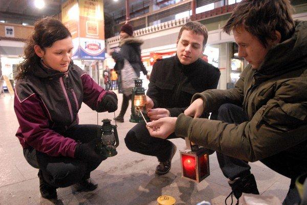 Gabika a Jano. Vzácne plamienky si odniesli rovno z košickej železničnej stanice.