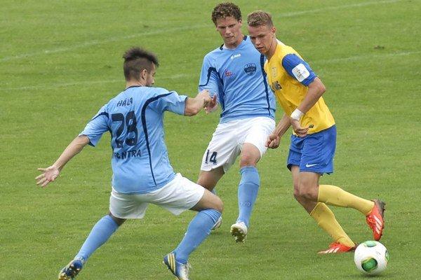 Ondrej Duda (vpravo) proti Nitre dal svoj prvý ligový gól.
