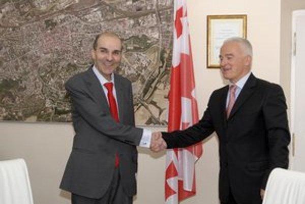 Veľvyslanec Nalbandov s konzulom Pigozzim. O Gruzínsku by sa odteraz malo v Košiciach viac hovoriť.
