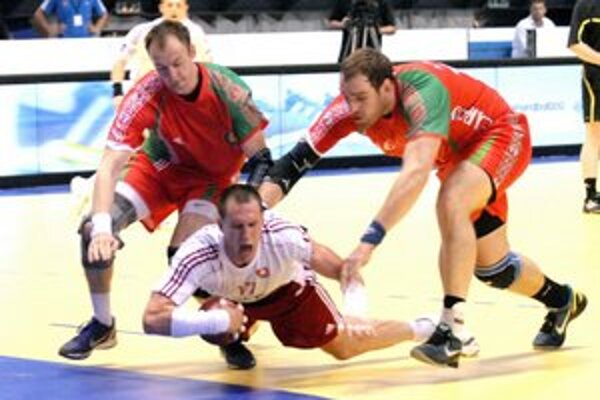 Martin Mazák. Bieloruská obrana mu nedala dýchať.