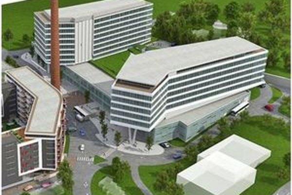 Pohľad na novú časť. Cassovar Business Center bude po dokončení vyzerať takto.