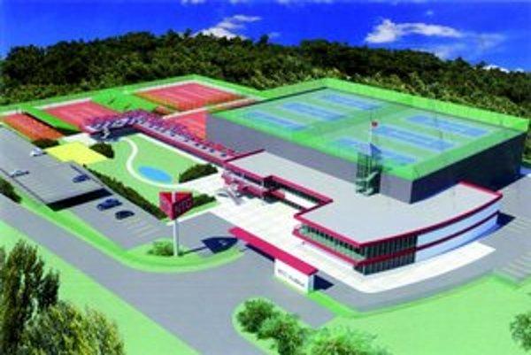 Národné tenisové centrum. Na viac ako dvoch hektároch by mohlo vyrásť až 17 kurtov.
