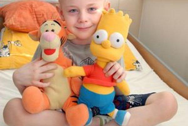 Aj napriek chorobe Danko ostáva usmievavým chlapcom.