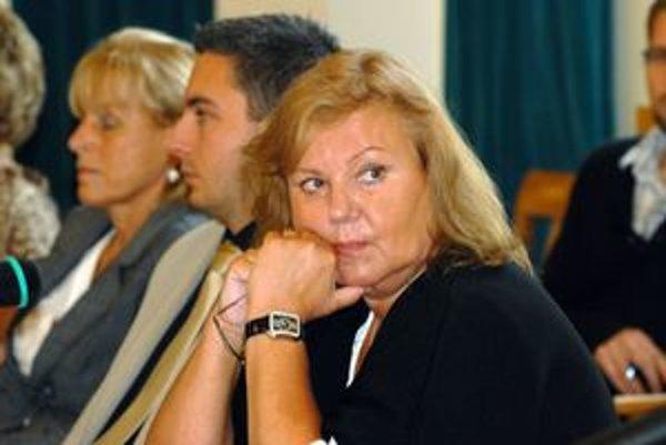 Poslankyňa Blaškovičová. Jej združenie dostáva dotácie.