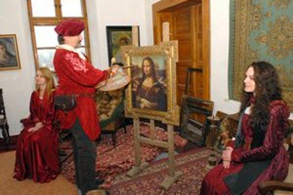 Leonardo v Budimíre maľoval Monu Lízu.