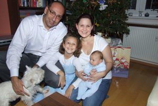 Alexander Barna s rodinkou.