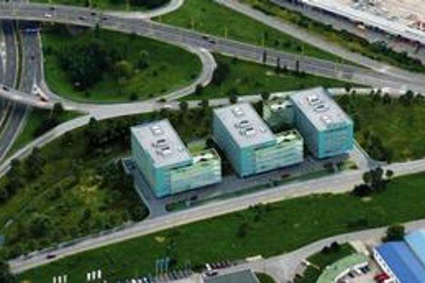 Vizualizácia výstavby. Biznis centrum na Magnezitárskej je naplánované pri diaľničnom ťahu na Prešov.