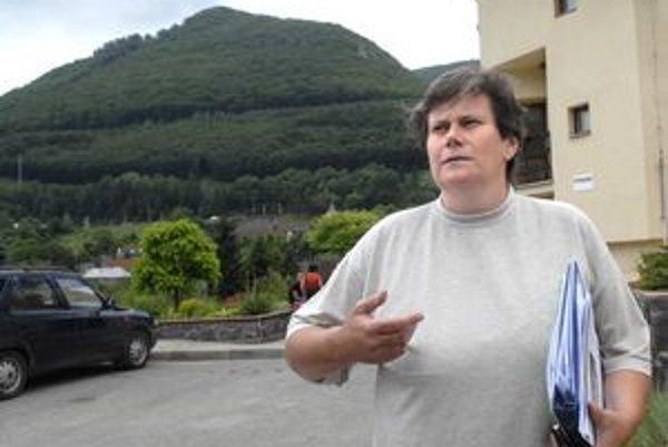 Adriana Fecková. V Malej Lodine už rozbehla práce na odstraňovaní škôd a prevencii.