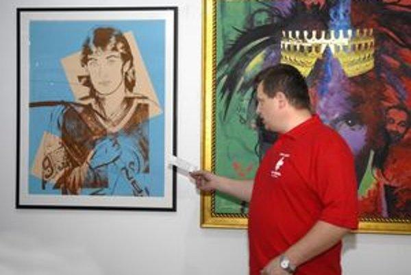 Warhol by bol prekvapený. Jeho portrét Wayna Gretzkeho pomôžu zviditeľniť aktuálne majstrovstvá.