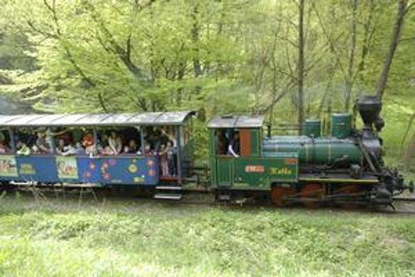 Už sa teší na detváky. Železnička už môže jazdiť, cez víkend má byť slniečko.