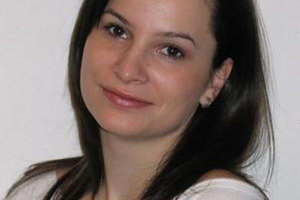 Herečka Katarína Horňáková.