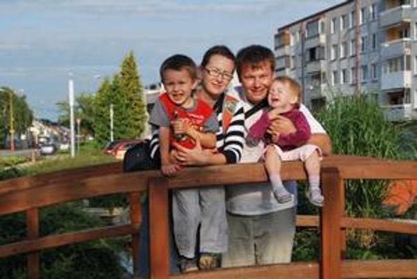Marek Kolárčik s rodinou.