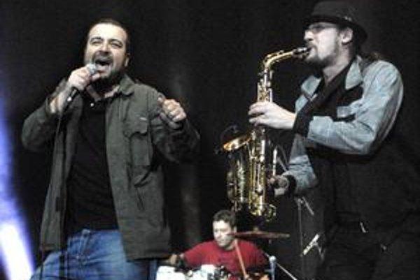 """Ivan s Gapom. So saxofonistom Máriom """"Gapom"""" Garberom sa poznajú dlhšie, obaja sú Prešovčania."""
