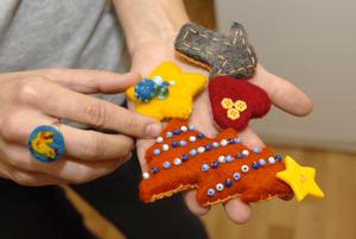 ff27cfaf8 Erikine netradičné výrobky zo psej srsti: prstene aj brošne rôznych tvarov.
