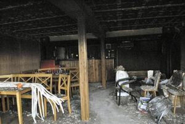 Interiér. Takto to vyzeralo vo vnútri krátko po požiari.