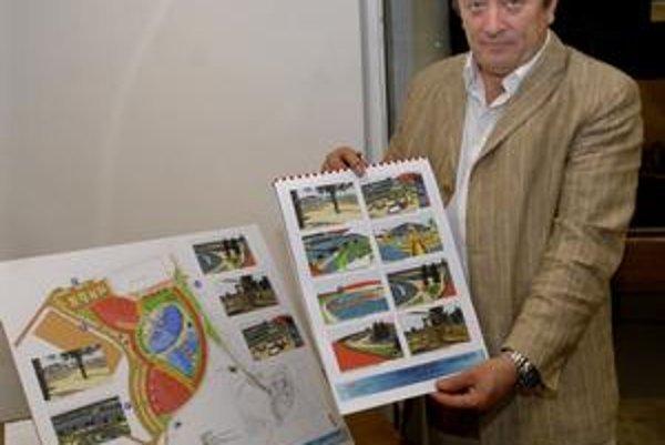 Vodný svet. Podľa plánov má stáť 300 miliónov eur. Problémom sú však pozemky. Tie sú v rukách súkromných vlastníkov.