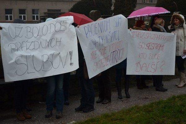 Protestujúce prešovské sestry.