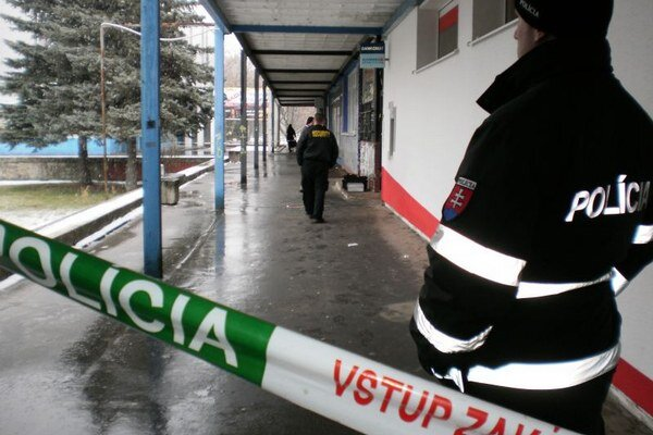 Jeden z vykradnutých bankomatov v Prešove.