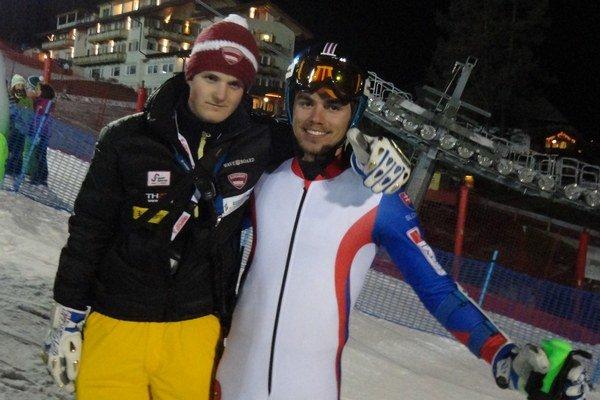 Matej Falat s trénerom Martinom Fahrnerom.