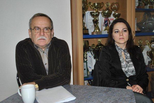 Primátor a jeho pravá ruka. František Bartko a Sylvia Hetmánková.