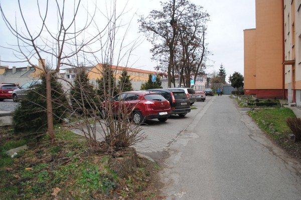 SDH. Na parkovisku sú miesta vyhradené pre ŤZP.