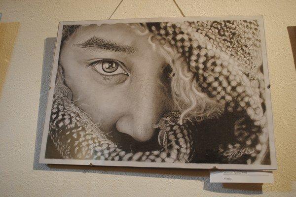 Kresba Miroslava Zgabaja pôsobí ako fotografia, ale nakreslil portrét.