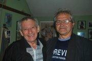 Edo Capák (vľavo) s kamarátom Jozefom.