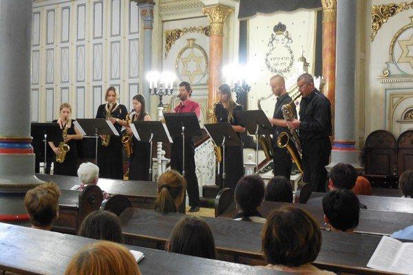Saxofóny v hlavnej úlohe. Mladí interpreti zaujali prešovské publikum.