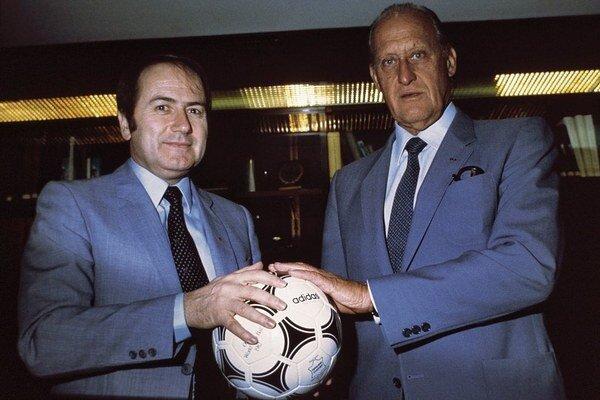 Sepp Blatter a jeho veľký učiteľ João Havelange v roku 1982.