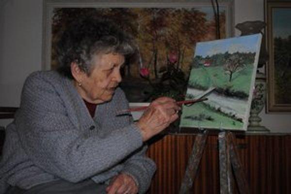 Jolana Lenzová. Pred týždňom namaľovala svoj zatiaľ posledný obraz.