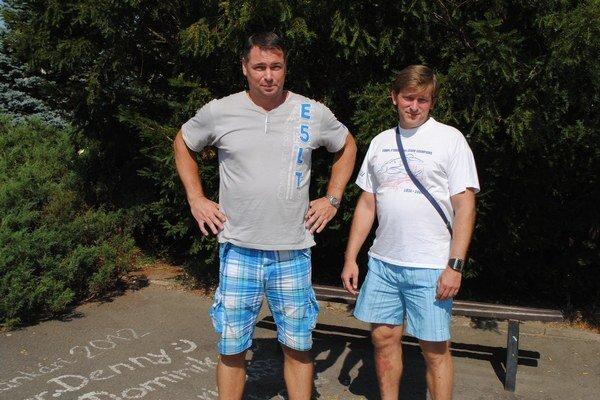 Prešovskí tréneri Ľ. Šalata (vľavo) a M. Bercel.