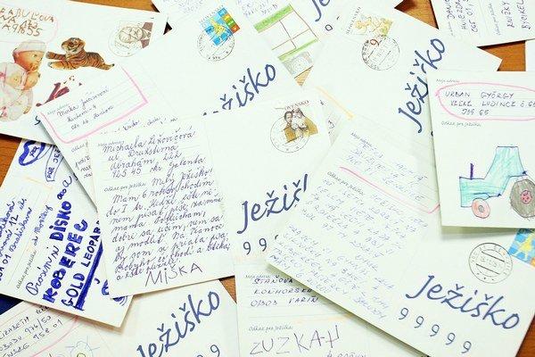 List Ježiškovi. Prvý bol so želaním korytnačky.