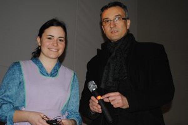 Text k foto: Matka a režisér. Anna Pavlíková s Milanom Antolom.