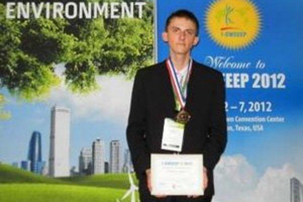 Tibor Porubän. Úspešný gymnazista získal v USA jedno z najvyšších ocenení