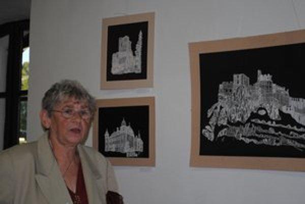 Barbora Šimková. Jubilantka vystavovala kolekciu 30-ročnej tvorby.