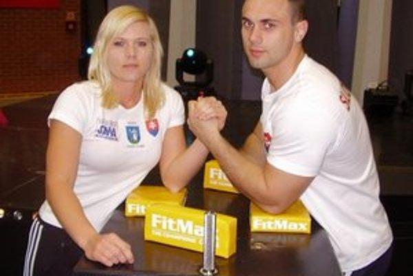 Veronika Očipová. So svojím trénerom Gabrielom Harčárikom.