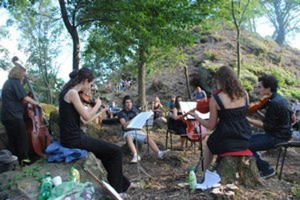 Koncert vážnej hudby. Odznel v piatok večer na hrade Šebeš.