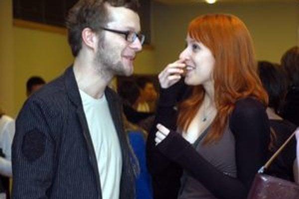 Veronika s manželom Maťom Husovským. Z materskej šla do divadla.