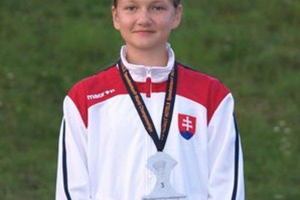 Hrdý úsmev Kristíny Ščavnickej. Na MS v speed badmintone získala bronz.