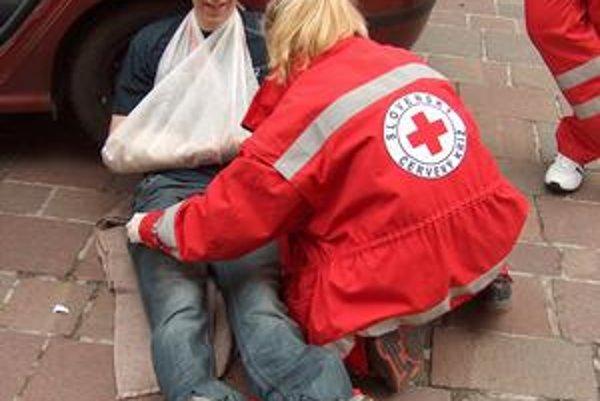 Ako naozaj. Dobrovoľníčka pri záchrane raneného.