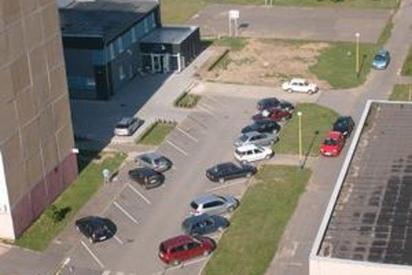 Karpatská ulica. Na trávniku medzi parkoviskom a ihriskom by malo vzniknúť nové.