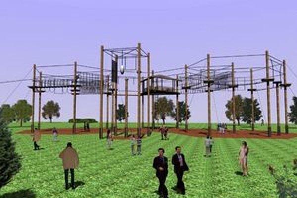 Outdoor park. Takto by malo vyzerať lanové centrum v Prešove.
